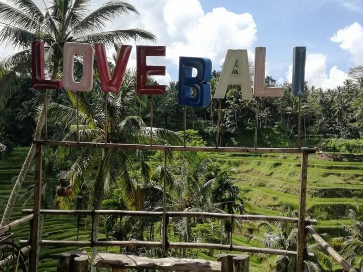 Ubud dove trovare scritta Love Bali