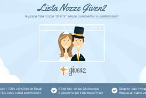 Per i futuri Sposi, scoprite la Lista Nozze on line di Given2