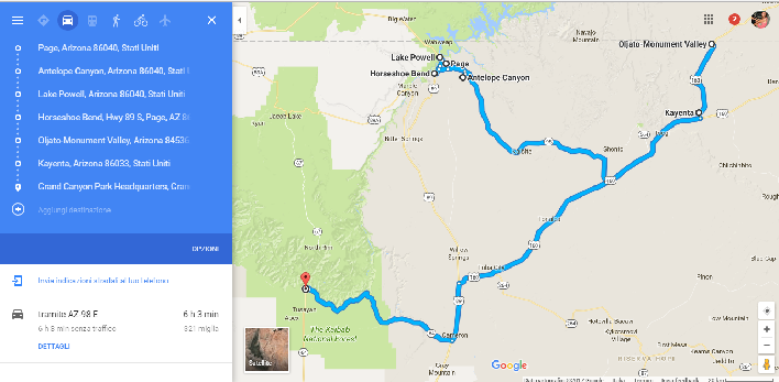 visitare i parchi ovest arizona stati uniti