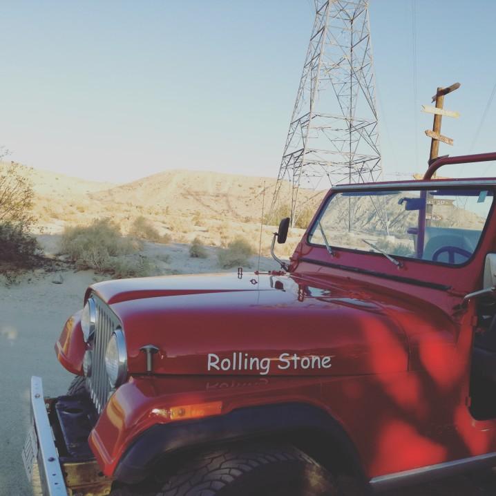 Palm Springs jeep faglia di St Andreas