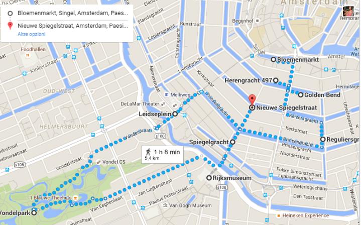 Amsterdam itinerario cintura dei canali