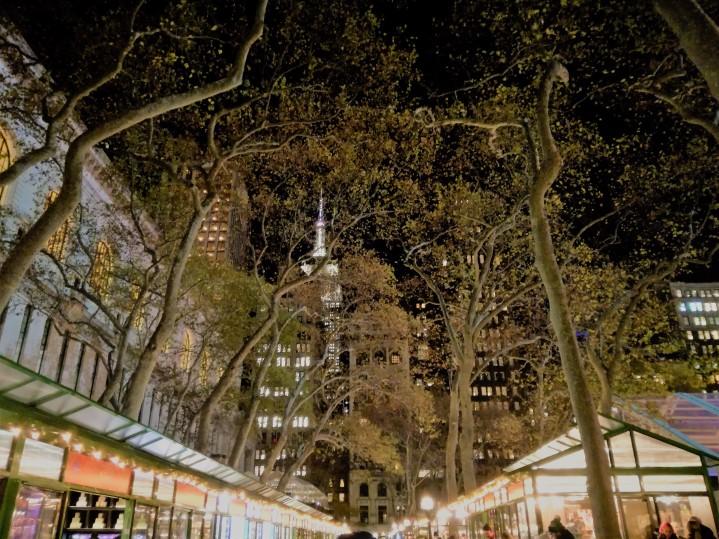 Mercatini Bryant Park Natale a NewYork