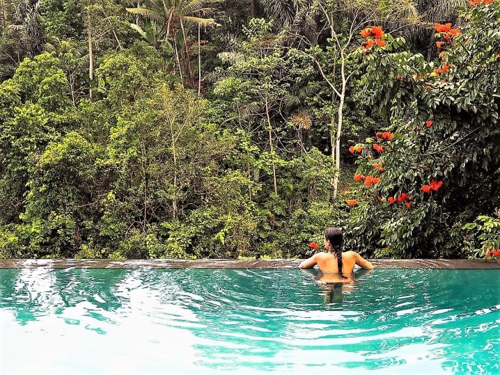 dormire a Ubud infinity pool
